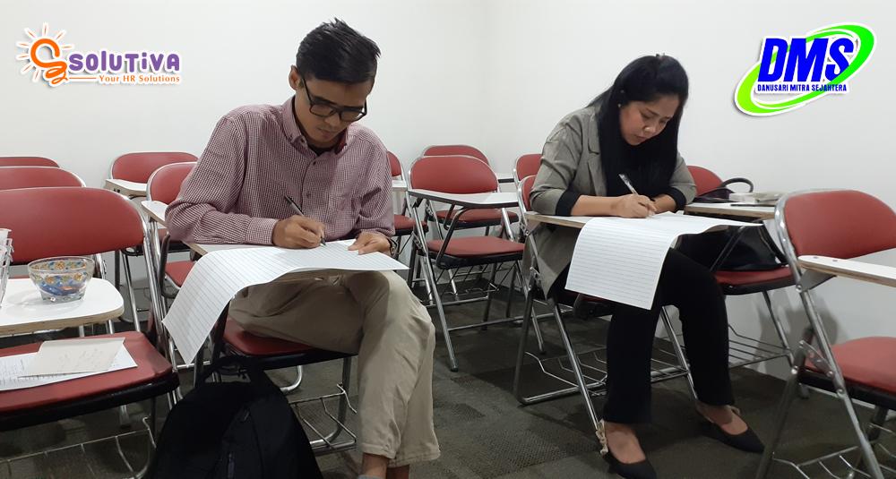 Psikotes calon karyawan PT Danusari Mitra Sejahtera di kantor PT Solutiva Consulting Indonesia, Kemang, Jakarta Selatan.