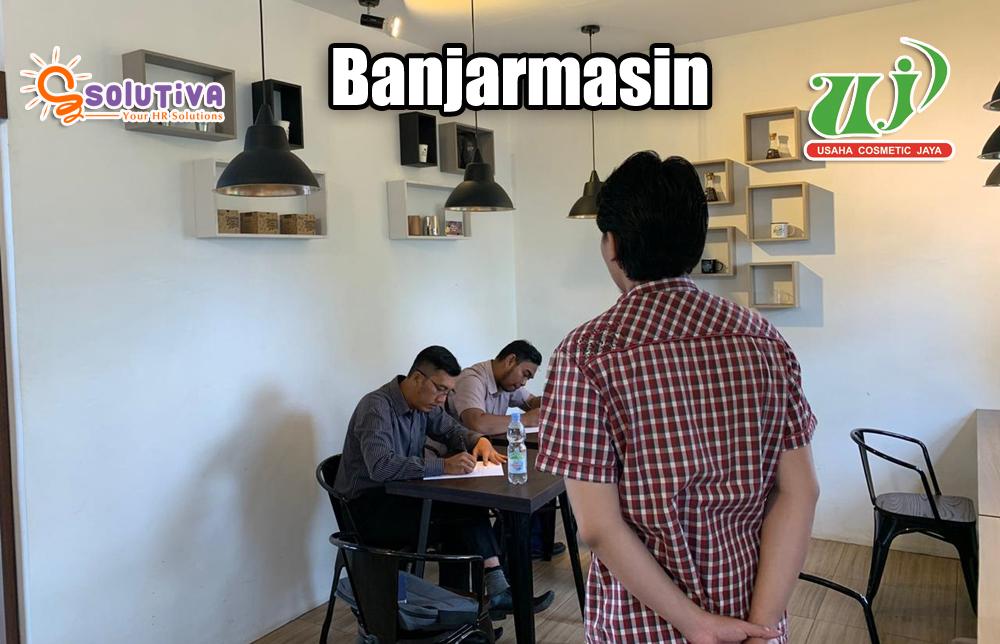 Psikotes untuk calon karyawan PT Usaha Cosmetic Jaya di kantor rekanan PT Solutiva Consulting Indonesia di Banjarmasin, Kalimantan Selatan.