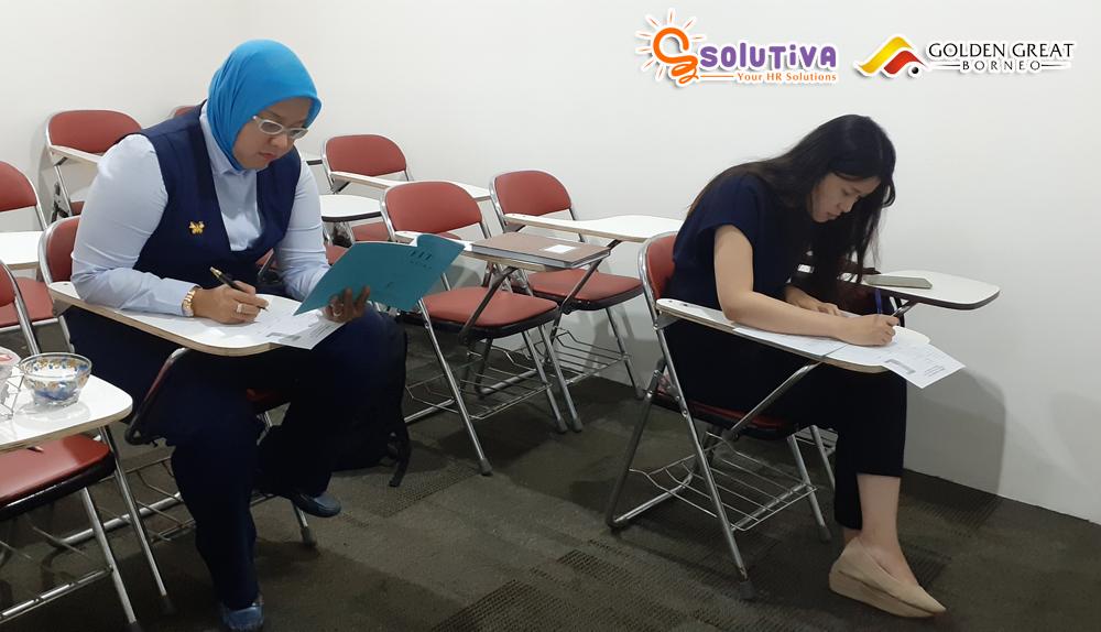 Psikotes untuk level HRGA Manager dan sekretaris untuk PT Golden Great Borneo di kantor PT Solutiva Consulting Indonesia, Kemang, Jakarta Selatan.