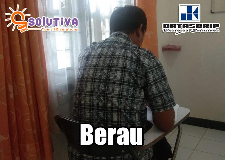 Hari ini (10 Februari 2020), biro psikologi PT Solutiva Consulting Indonesia dipercaya oleh PT Datascrip untuk melakukan psikotes calon karyawan di Berau, Kalimantan.