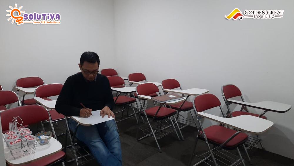 Psikotes untuk level Manager HRGA untuk PT Golden Great Borneo di kantor PT Solutiva Consulting Indonesia, Kemang, Jakarta Selatan.
