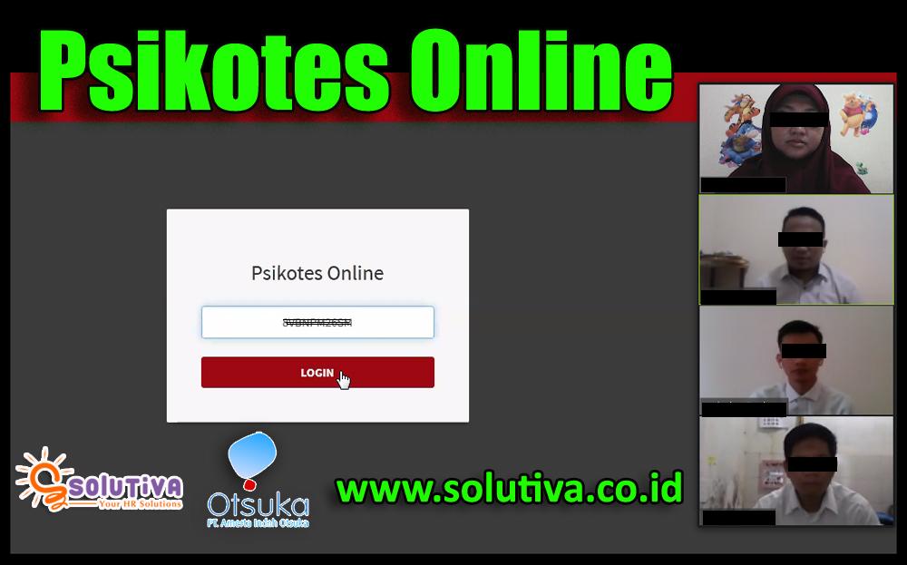 Psikotes Online untuk calon karyawan PT Amerta Indah Otsuka dilakukan oleh PT Solutiva Consulting Indonesia.